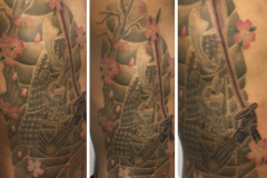 japanese samurai tattoo by Ei Omiya close up