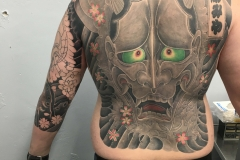 full back japanese tattoo by Ei Omiya at Funhouse Tattoo San Diego